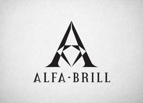 Alfa-Brill ékszerbolt logó