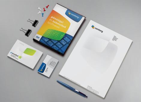Contorg céges kisarculat tervezése