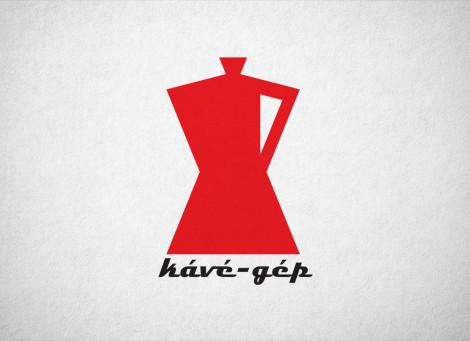 Kávé-gép – kávézó és kávégép-forgalmazás logó