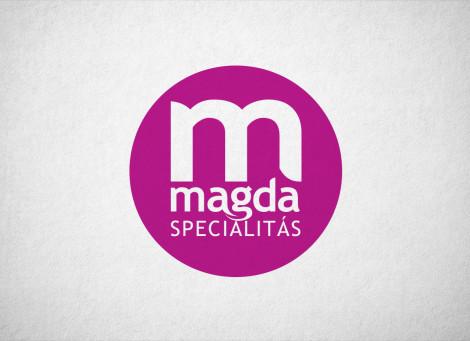 Magda Specialitás Magda Cukrászda saját termék logó