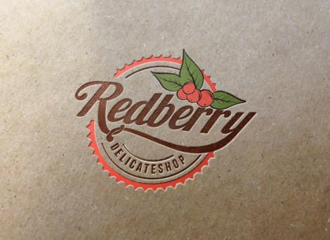 Redberry angol-amerikai Delicate Shop logó és kisarculat
